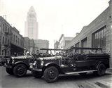 1920s 1930s Two Fire Trucks