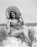 1920s 1930 Smiling Bathing Beauty