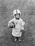 1950s Boy Standing In Grass