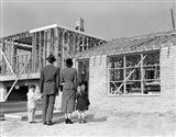 1950s Family Looking At New Home