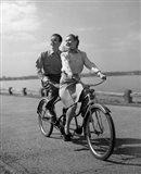 1950s Smiling Happy Couple