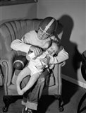 1950s 1960s Boy Sitting By Football