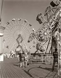 1960s Teens Looking At Amusement Rides