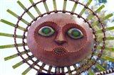 Sun Mask during Summer Solstice Celebration in Santa Barbara, California