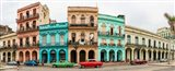 Cars in Front of Colorful Houses, Havana, Cuba