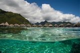 Bungalows on the Beach, Moorea, Tahiti, French Polynesia