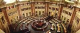 High angle view of a library reading room, Library of Congress, Washington DC, USA