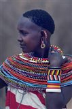 Side profile of a Samburu tribal woman