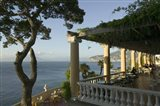 Group of people sitting in a restaurant by the sea, Imperial Tramontano, Sorrento, Naples, Campania, Italy