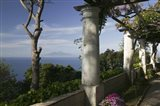 Balcony overlooking the sea, Villa San Michele, Capri, Naples, Campania, Italy