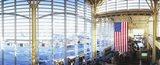 Interior of an airport, Ronald Reagan Washington National Airport, Washington DC, USA