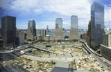 High angle view of buildings in a city, World Trade Center site, New York City, New York State, USA, 2006