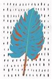 Blue Tropical Leaf II