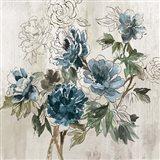 Blue Floral I