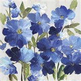 Cobalt Poppies I