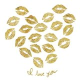 I Love you Gold Lips