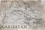 Carribean Map White