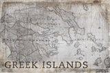 Greek Islands Map White