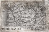 Bordeaux Map White