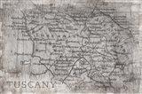 Tuscany Map White