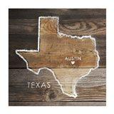 Texas Rustic Map