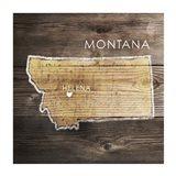 Montana Rustic Map
