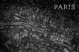Map Paris Black