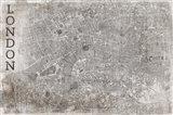 Map London White
