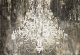 White Chandelier on Ebony