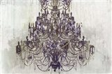 Plum Chandelier on White