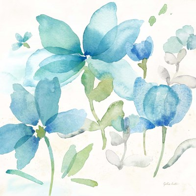 Blue Poppy Field II Poster by Cynthia Coulter for $53.75 CAD