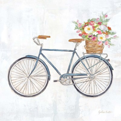 Vintage Bike With Flower Basket II Poster by Cynthia Coulter for $32.50 CAD
