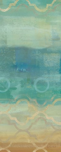Abstract Waves Blue Panel I Poster by Cynthia Coulter for $35.00 CAD