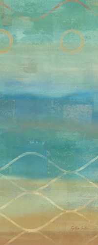 Abstract Waves Blue Panel II Poster by Cynthia Coulter for $35.00 CAD