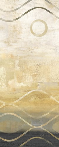 Abstract Waves Black/Gold Panel II Poster by Cynthia Coulter for $35.00 CAD