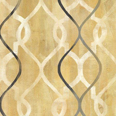 Abstract Waves Black/Gold Tiles II Poster by Cynthia Coulter for $32.50 CAD