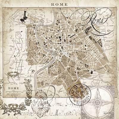 Euro Map II - Rome Poster by Tre Sorelle Studios for $32.50 CAD