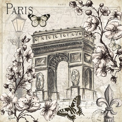 Paris in Bloom II Poster by Tre Sorelle Studios for $32.50 CAD