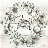 Cotton Boll Family Wreath