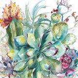 Succulent Garden Watercolor I