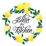 Lemon Blueberry Kitchen Sign I