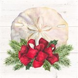 Christmas by the Sea Sanddollar square