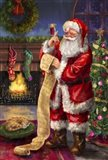 Santa with his list