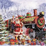 Santa and Red Train