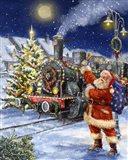 Santa and Black Train