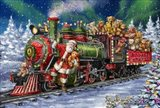 Santa Green /Red Train with toy bears