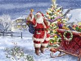 Santa ringing bell with Sleigh