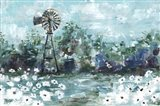 Windmill and Daisies Landscape