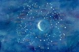 Star Sign with Moon Landscape