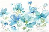 Blue Poppy Field Landscape